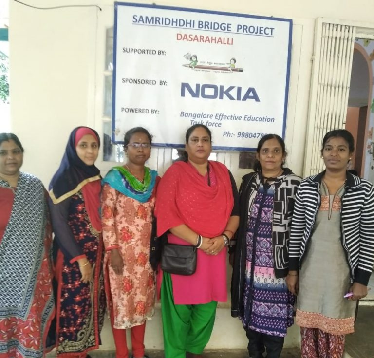 Dasarahalli Bridge School Staff | Samridhdhi Trust