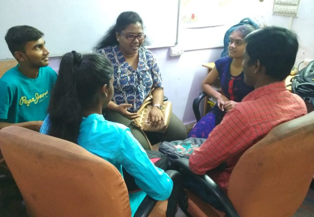 Mentoring session at the Finishing School | samridhdhi Trust