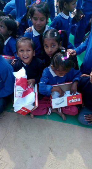 Joy of getting shoes   Samridhdhi Trust